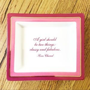 Chanel Quote Porcelain Trinket Tray/Jewelry Dish